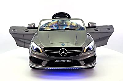 Mercedes CLA45 12V Kids Ride-On Car MP3 USB Player Battery Powered Wheels RC Parental Remote + 5 Point Safety Harness | Metallic Grey