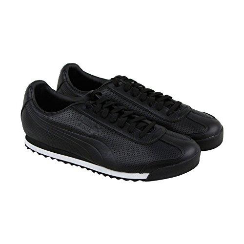 (PUMA Men's Roma DLX Perf Sneaker, Black White, 13 M US)