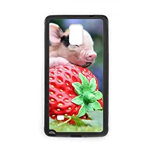 JFLIFE Cute Pig Phone Case for samsung galaxy note4 Black Shell Phone [Pattern-2]