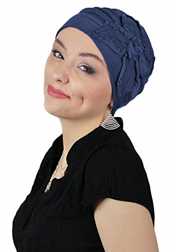Hats for Cancer Patients Women Chemo Headwear Head Coverings Butterfly Beanie Parkhurst (Navy Blue) by Hats Scarves & More