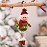 Hanging leg old man snowman fabric doll Christmas decorations