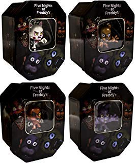 U.C.C. Distributing Five Nights at Freddy's Exclusive Holiday Collectors Tin Set of All 4 Styles 'Mangle , Bonnie , Foxy & Freddy'