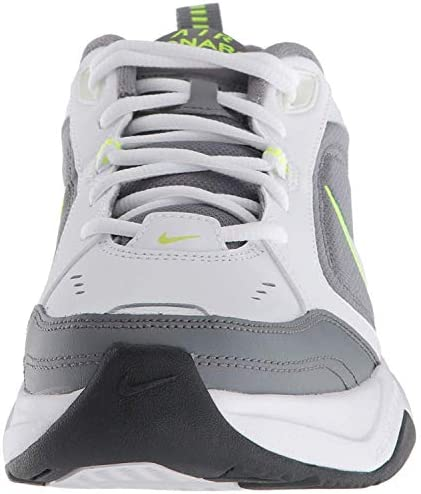 41dwJWwscsL. AC Nike Men's Air Monarch IV Cross Trainer    Men's Nike Air Monarch IV Training Shoe sets you up for comfortable training with durable leather on top for support. A lightweight foam midsole with a full-length encapsulated Air-Sole unit cushions every stride in the Nike men's shoe. ImportedRubber soleShaft measures approximately low-top from archNIKE SHOES MEN: The Nike Air Monarch IV (4E) Training Shoe for Men sets you up for a comfortable training session with durable leather on top for support.DURABLE LEATHER: Men's sneakers are made with leather upper features for durability and support, while perforations provide airflow during every shoe wear.CUSHIONED COMFORT & DURABLE SUPPORT: A lightweight foam midsole with full-length encapsulated Air-Sole unit cushions every stride, providing all day comfort in your Nike shoes.