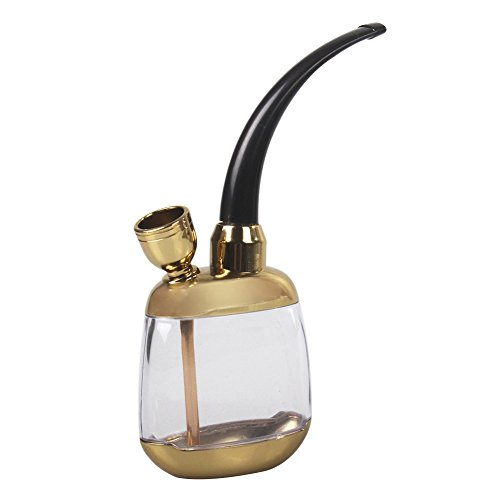 StillCool Mini Portable Water Tobacco Smoking Hookah Pipes Complete Set Retro Shape Hookah, One Size(Small), Gold
