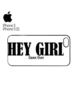 Hey Girl Game Over Mobile Cell Phone Case For Sam Sung Galaxy S4 I9500 Cover Black