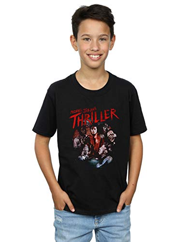 Michael Jackson Boys Thriller Ghouls T-Shirt Black 5-6 Years
