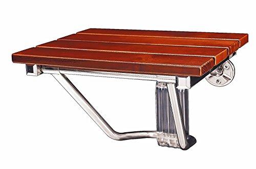 DreamLine Natural Teak Folding Shower Seat, SHST-01-TK ()