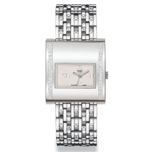 2008 Swatch Watch Irony Lady Square Chroma Lux YUS120G