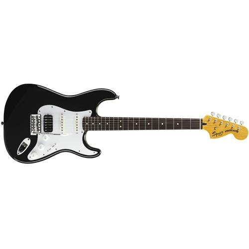 Squier by Fender Vintage Modified Stratocaster Electric Guitar HSS - Black - Rosewood Fingerboard (Duncan Designed Sc 101 Single Coil Pickups)