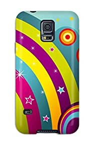 High Quality Shock Absorbing Case For Galaxy S5-vector Rainbows