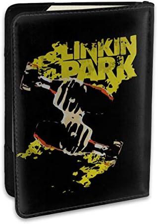Linkin Park リンキンパーク パスポートケース パスポートカバー メンズ レディース パスポートバッグ ポーチ 収納カバー PUレザー 多機能収納ポケット 収納抜群 携帯便利 海外旅行 出張 クレジットカード 大容量
