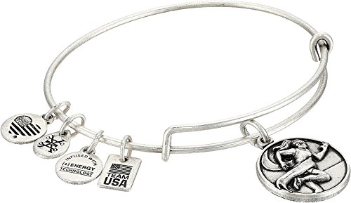 Alex and Ani Women's Team USA Track and Field Bangle Silver One Size