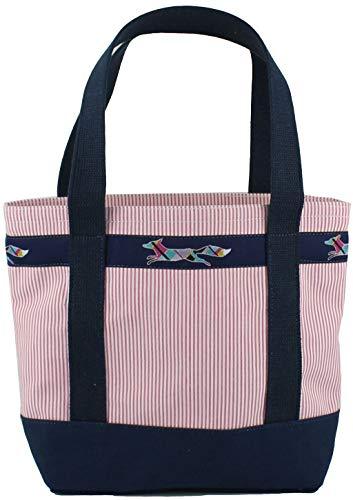 Prep Seersucker - Medium Longshanks Tote Bag in Pink Seersucker by Country Club Prep