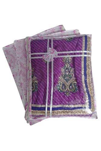 Fashion Bizz Pink Regular Multi Saree Cover 12 Pcs Combo