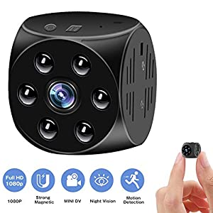 Hidden Camera,Mini Spy Cam-1080P HD With Night Vision And Motion Detection,Built-in Magnetic&Wearable,Video Surveillance Camera For Indoor/Outdoor Security,Perfect Nanny Cam,Copcam For Home,Car,Office