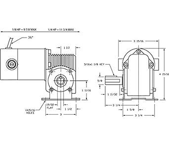 Dayton 3XA78 DC Gearmotor, 180 RPM, 90V, TENV, Degrees_Fahrenheit, on