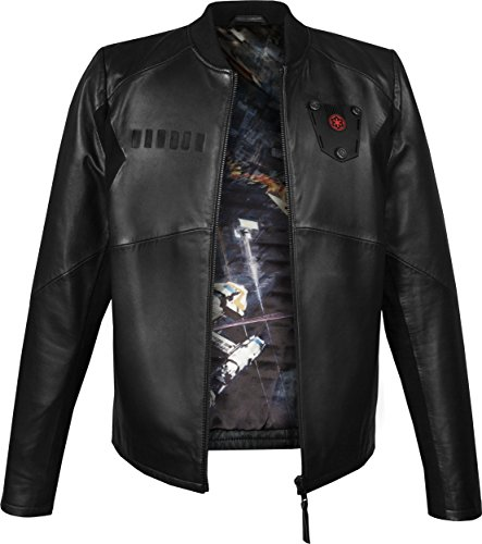 Musterbrand Star Wars Veste en cuir Homme Tie Pilot Limited Edition High Quality Noir