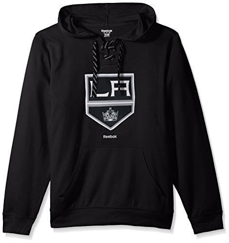 NHL Los Angeles Kings Adult Men Team Crest Performance Fleece Hockey Hood,Medium,black