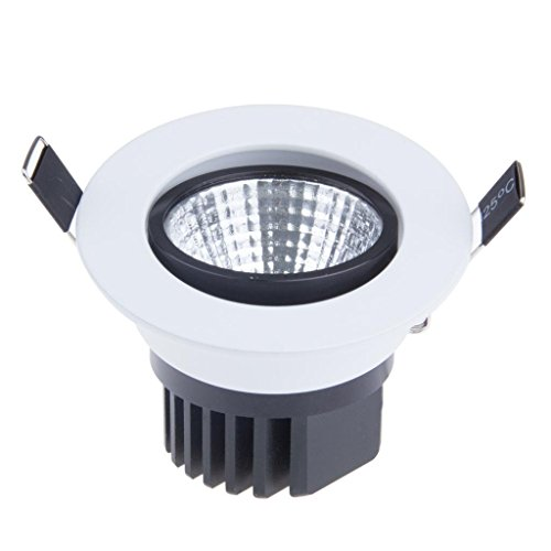Lemonbest Dimmable LED Ceiling Light Downlight Spotlight 5W Recessed Lighting Fixture (Cool White) ()