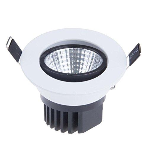 Lemonbest Dimmable 5W COB LED Ceiling Light Downlight Cool White Spotlight Lamp Recessed Lighting Fixture