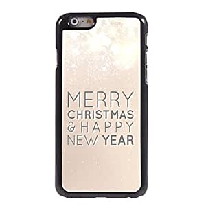 QJM Merry Christmas and Happy New Year Pattern Aluminum Hard Case for iPhone 6