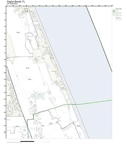 Amazon.com: ZIP Code Wall Map of Flagler Beach, FL ZIP Code Map Not on