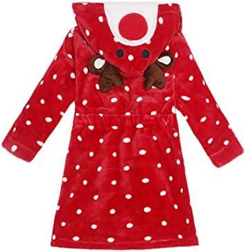 JUNG KOOK Toddler Baby Boys Girls Cartoon Bathrobe Flannel Robe Winter Night-Robe