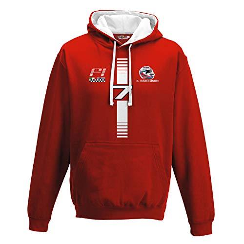 Grand Prix Hooded Sweatshirt - KiarenzaFD Hoodie Bico Motoring Formula Kimi 7 Raikkonen Uno 1 Grand Prix red