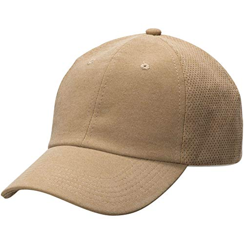 Aussie Chiller Perforated Cooling Hat with Soak Me Design for Hot Weather Comfort   One Size Fits All Baseball Cap Style   Camel Brown