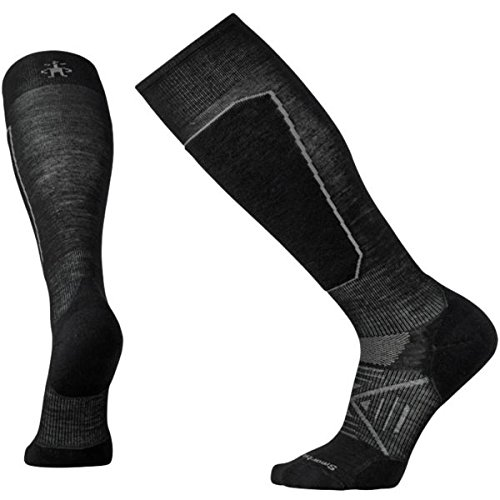 Smartwool Men's PhD Ski Light Elite Socks (Black) Large Smartwool Clothes