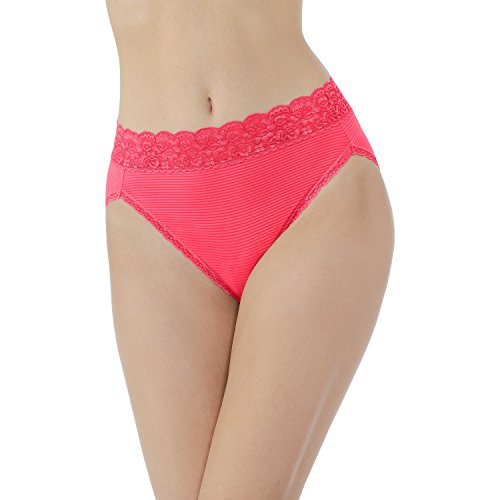 Vanity Fair Women's Flattering Lace Hi Cut Panty 13280, Grapefruit, X-Large/8