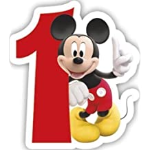 Procos Playful Mickey & Friends Number 1 Shaped Birthday Cake Candle by Minnie & Mickey Mouse