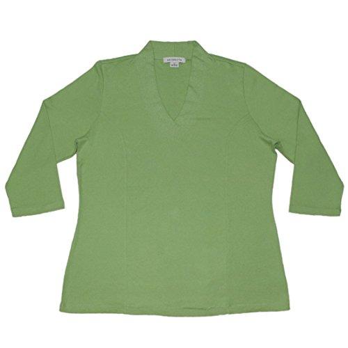 liz-claiborne-womens-casual-3-4-sleeve-t-shirt-tee-xl-green