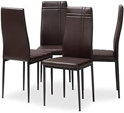 Baxton Studio Auxerre 4-PC Dining Chair Set