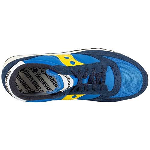 2 Azul para Hombre Blue Cross Saucony Original Zapatillas de Jazz Vintage Yellow Pw68PS