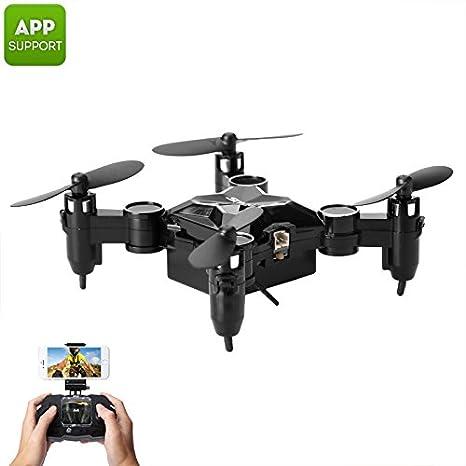 SMAO M1HS Mini Drone 0.3MP Camera FPV App Support WiFi LED Lights ...