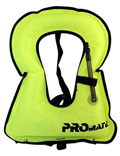 Promate adulto Snorkel chaleco Jacket- medium-yellow