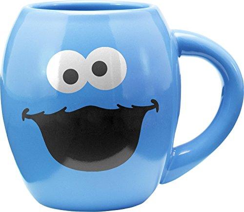 Vandor Sesame Street Cookie Monster 18 Oz. Oval Mug (32362) Cookies Mug