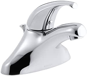 Kohler k 15182 p cp coralais single control centerset lavatory faucet polished chrome touch for Kohler coralais bathroom faucet