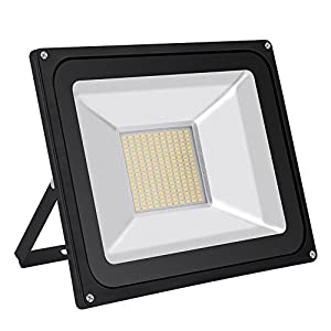 CSHITO 100W LED Flood Lights Outdoor,Waterproof IP65,8000LM,Warm White(3000K),Wall Washer Light,Super Bright Security Lights,for Garden,Yard,Stadium,Factory,Warehouse,Square,Billboard