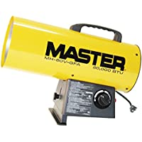 Master MH-60V-GFA 60,000 BTU LP Forced Air Heater, Variable Output