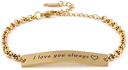 Mama bracelet set black and gold personalized