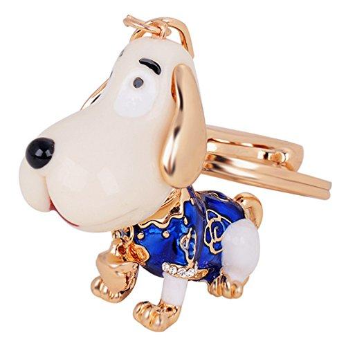 Aibearty Zinc Alloy Pendant Cute Dog Keychain Bag Charm Car Accessories