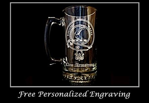 Clan Armstrong Scottish Crest 27oz Stein