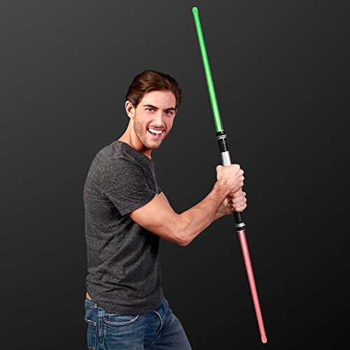 FlashingBlinkyLights Deluxe Double Sided Light Up Saber with Color Change Lights & Sound Effects -