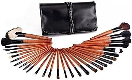 kit de pinceles de maquillaje profesional de 30 piezas con estuche negro by DELIAWINTERFEL: Amazon.es: Belleza