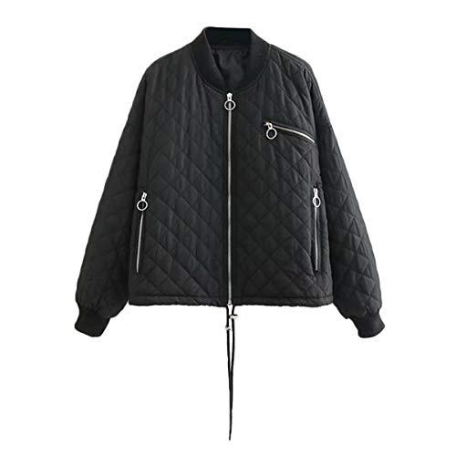 L Longues De Noir Warm Taille Zffde Hommes Col Zipper Manches Épaisse couleur Femme À Veste Pour Coat Pied Diamond qUHdwcI