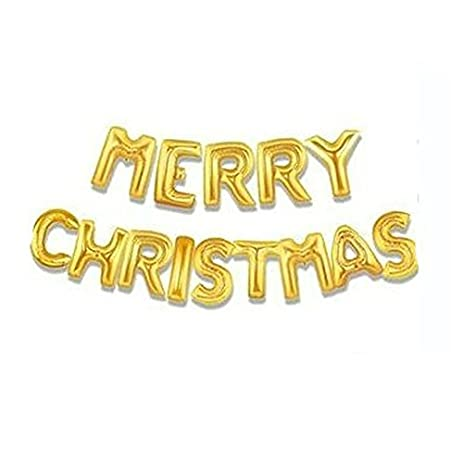 Amazon.com: Set of Letters Balloons Spelling Words MERRY CHRISTMAS ...