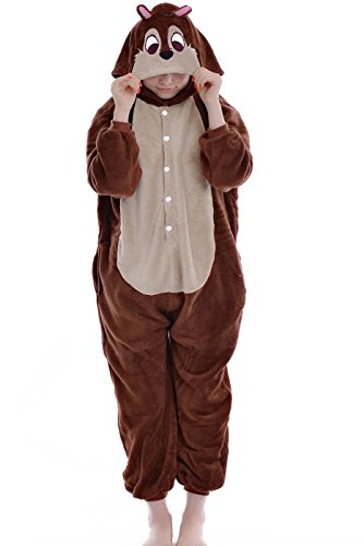[Women Men Adult Chipmunk Unisex Anime Christmas Halloween Carnival Cosplay Kigurumi Outfit Costume Onesies Pajamas Romper Clothing Piece] (Role Reversal Halloween Costumes)