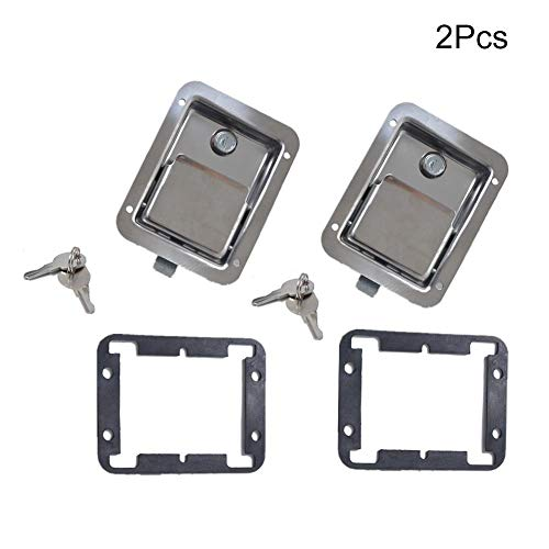 Chengstore Car Stainless Steel Trailer Toolbox Lock Door Lock in-Line Lock Tool Tear Drop Latch Stainless Steel Box Lock Stainless Steel Paddle Latch by Chengstore (Image #4)